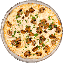 garlic chicken pizza | Family Restaurant L.A. Olympic