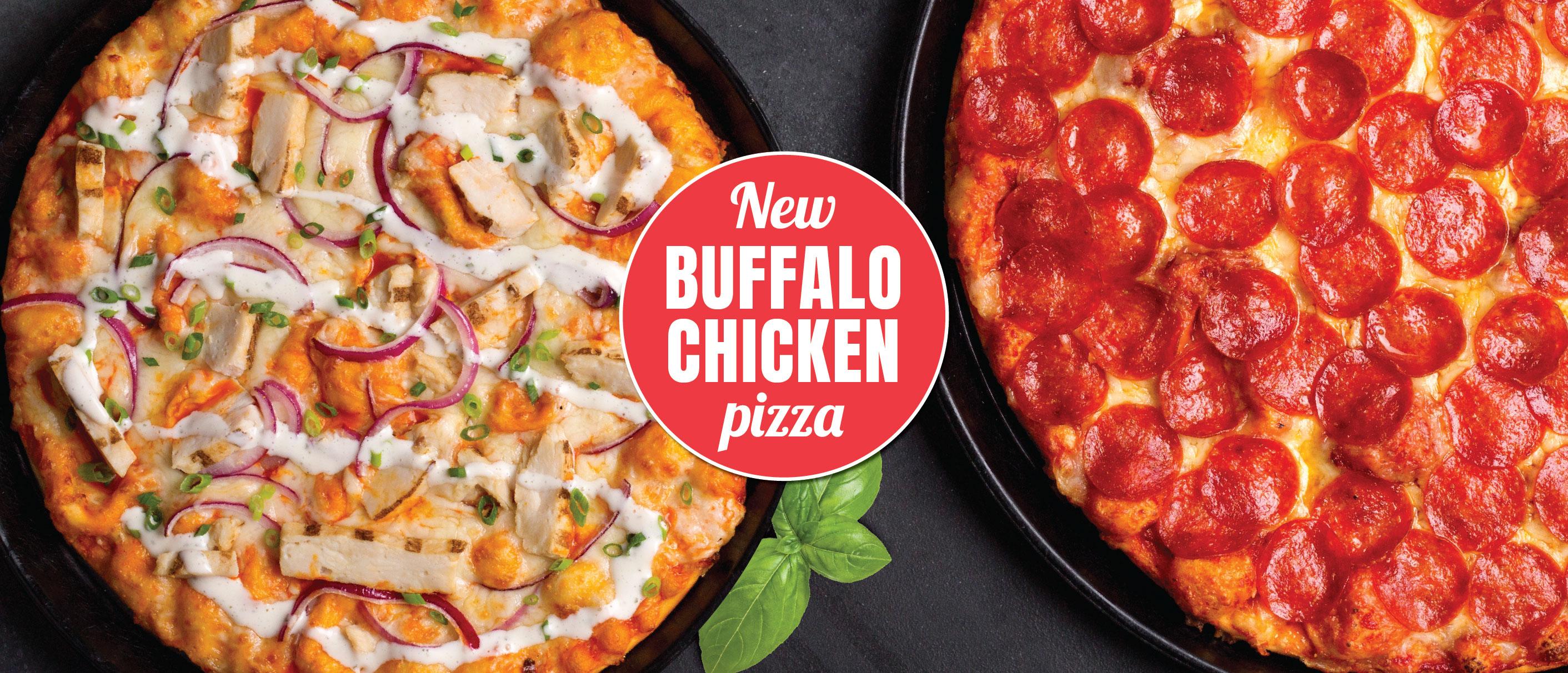 Shakey's Hero Image - Buffalo Chicken Pizza