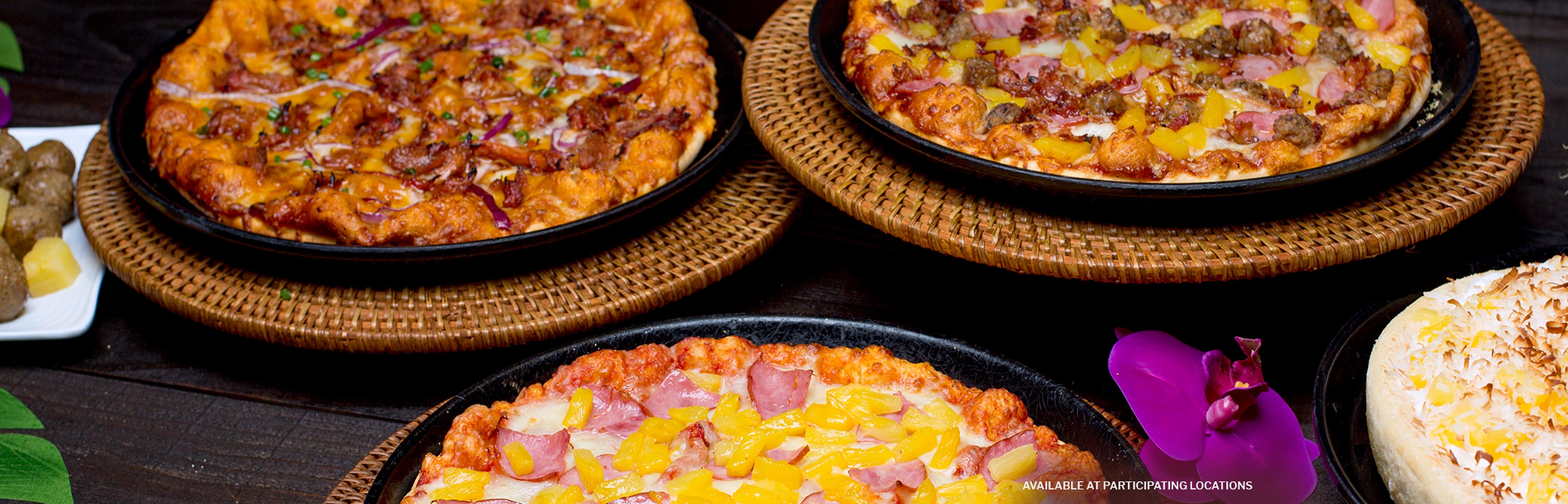 Shakey's Hero Image - Tropical Trio of Pizzas