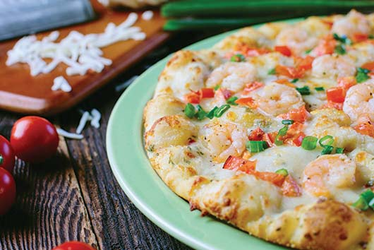 Shakeys Garlic Shrimp Pizza $12.99