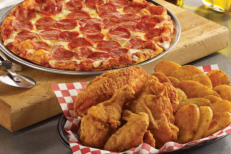 "Shakeys Add a 12"" pepperoni pizza for $5.99"