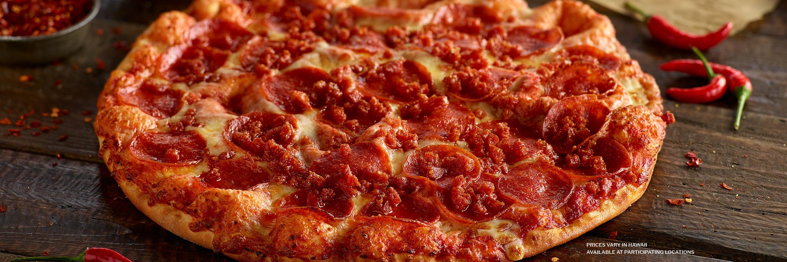 Shakey's Hero Image - Spicy Pepperoni Pizza