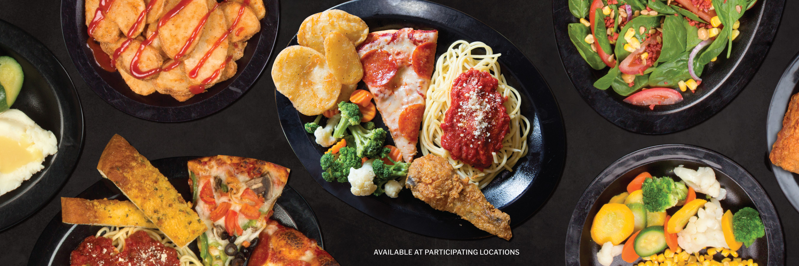 Shakey's Hero Image - Forget the wait. Fill your plate!