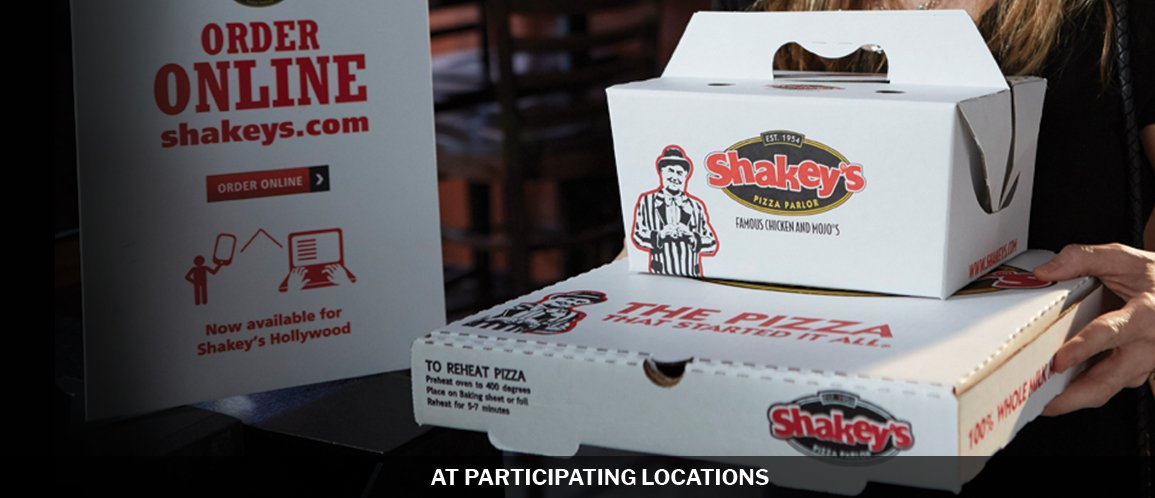 Shakeys Pick Up or Delivery